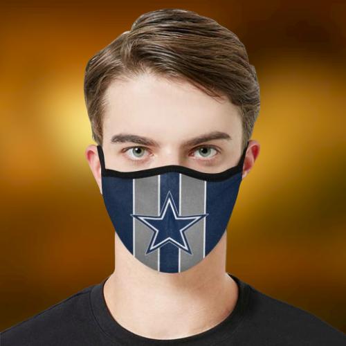 Dallas Cowboys cloth fabric face mask - BBS