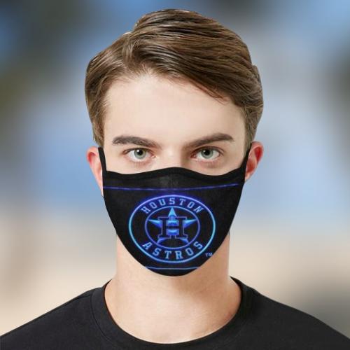 Astros cloth fabric face mask - BBS