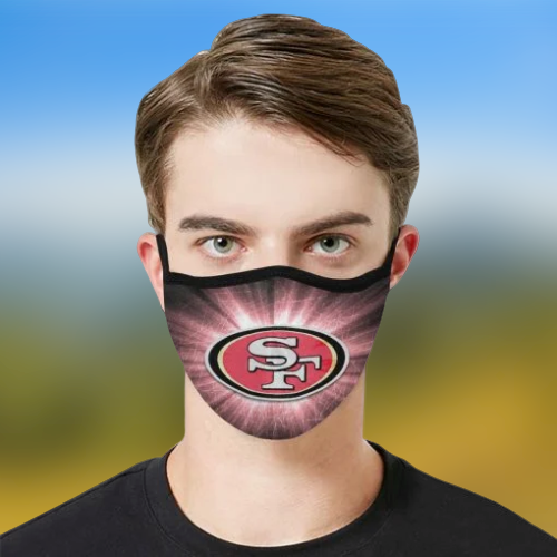 San Francisco 49ers cloth fabric face mask - BBS