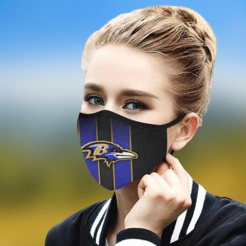 Baltimore Ravens cloth fabric face mask - BBS