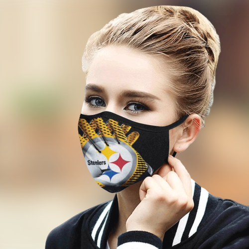 Pittsburgh Steelers cloth fabric face mask - BBS