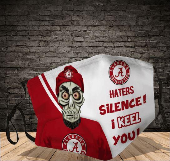 Achmed Alabama Crimson Tide haters silence i keel you face mask
