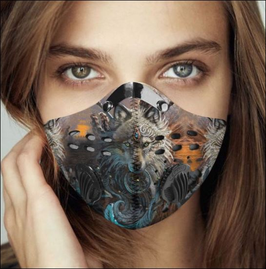 Amazing wolf filter activated carbon face mask