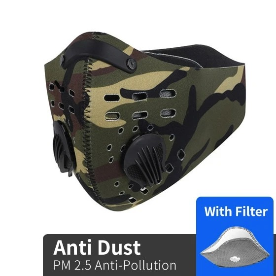 Army Logo Camo Filter Activated Carbon Pm 2.5 Fm Face Mask - hothot100420