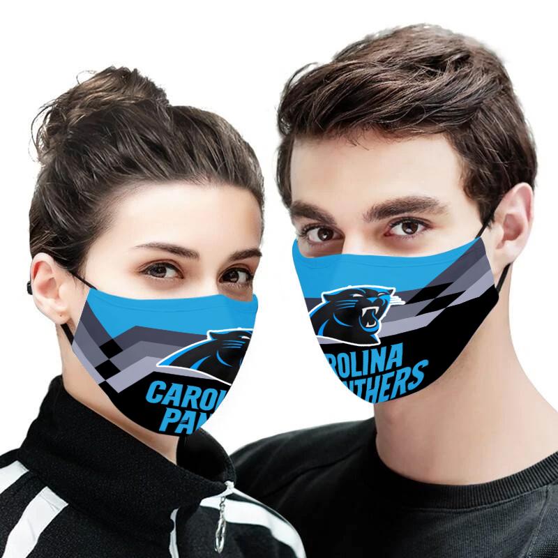 Carolina panthers face mask