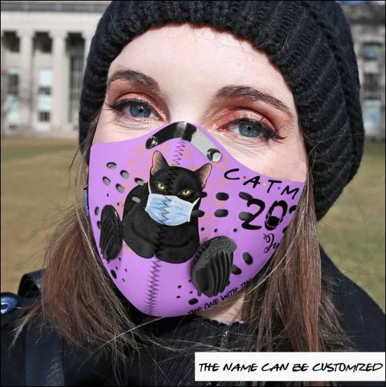 Cat mom 2020 the one with the pandemic activated carbon Pm 2.5 Fm face mask