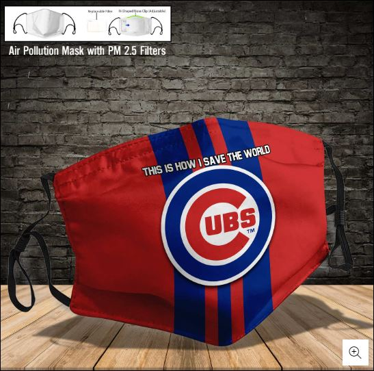 Chicago Cubs this how i save the world face mask