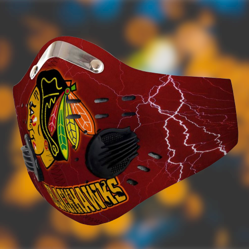 Chicago blackhawks filter face mask- LIMITED EDITION