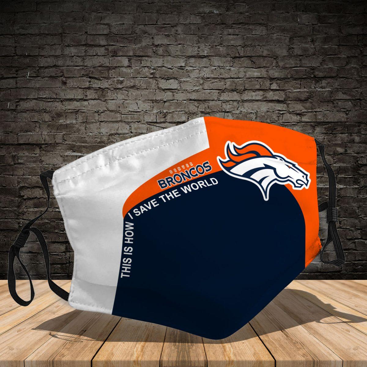 Denver Broncos 3d face mask