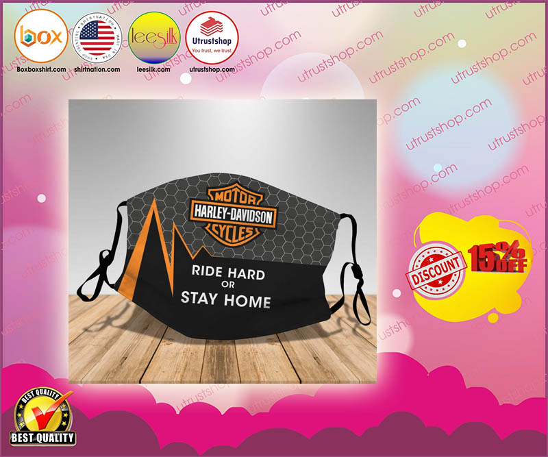 Harley Davidson ride hard or stay home face mask - LIMTIED EDITION