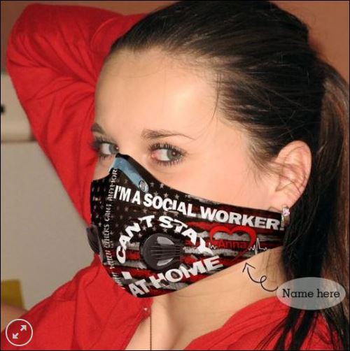 I'm a social worker i can't stay at home filter activated carbon Pm 2.5 Fm face mask