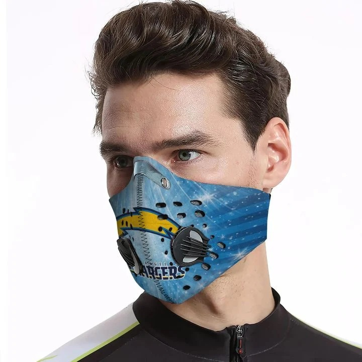 Los angeles chargers filter face mask - Pic 3