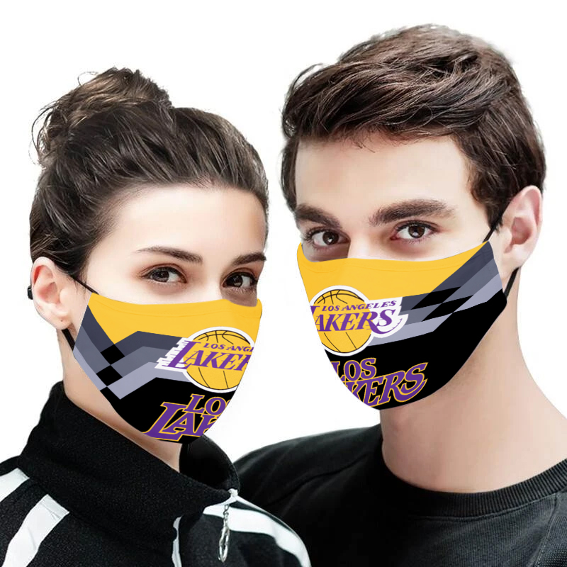 Los angeles lakers face mask