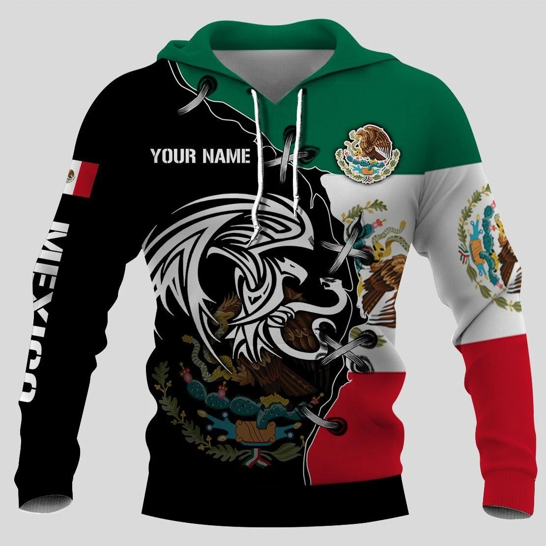 Mexico Golden Eagle Personalize Custom Name 3d hoodie