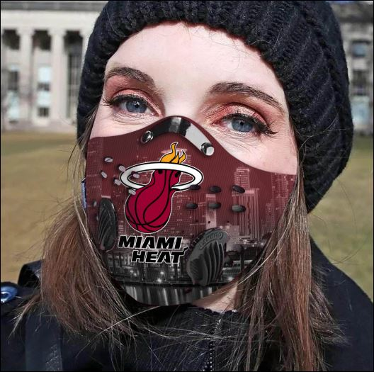 Miami Heat Filter Activated Carbon Face Mask Dnstyles Leesilk Shop Custom Shirts Online In Usa And Eu