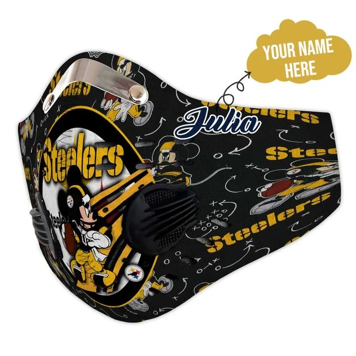 Micker steelers personalized custom name filter face mask