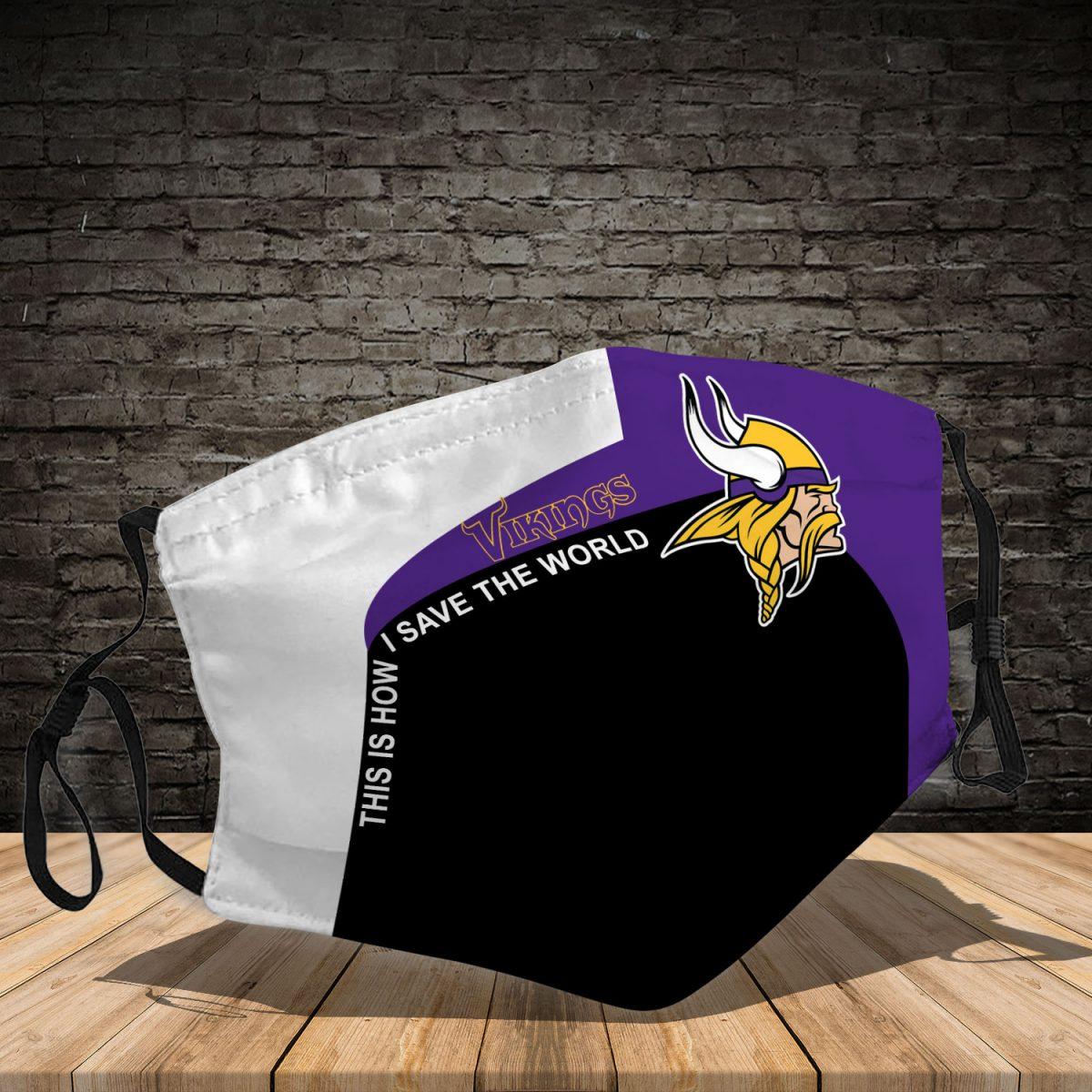 Minnesota Vikings 3d face mask