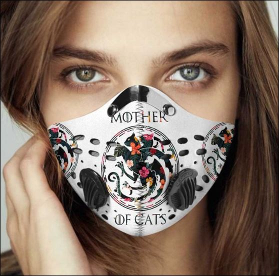 Mother of cats filter activated carbon face mask