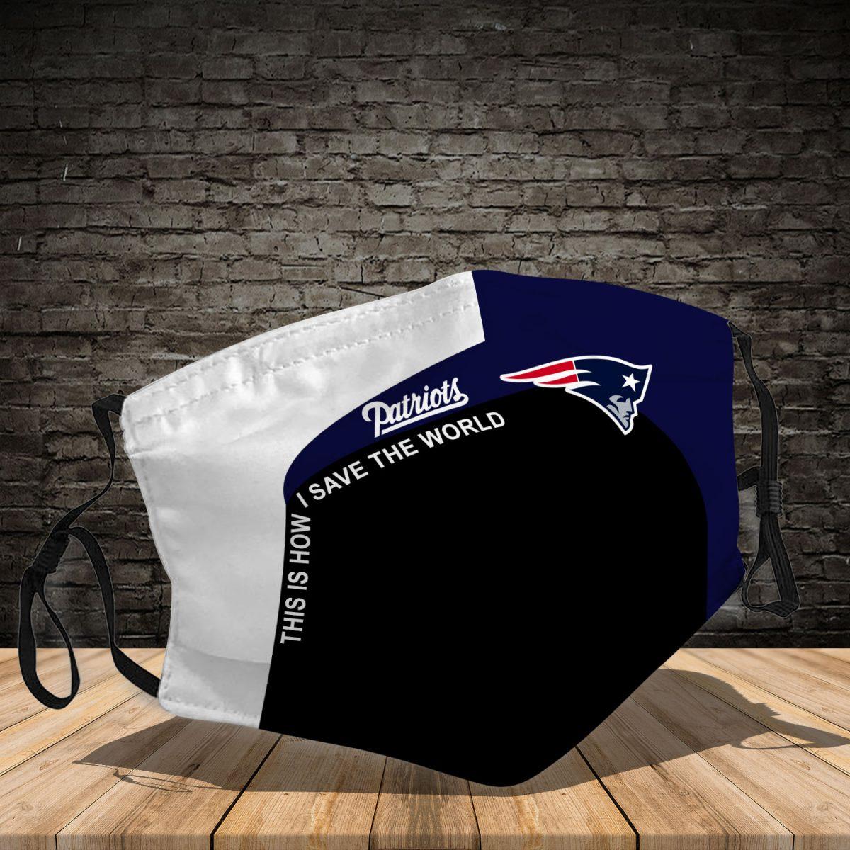 New England Patriots 3d face mask