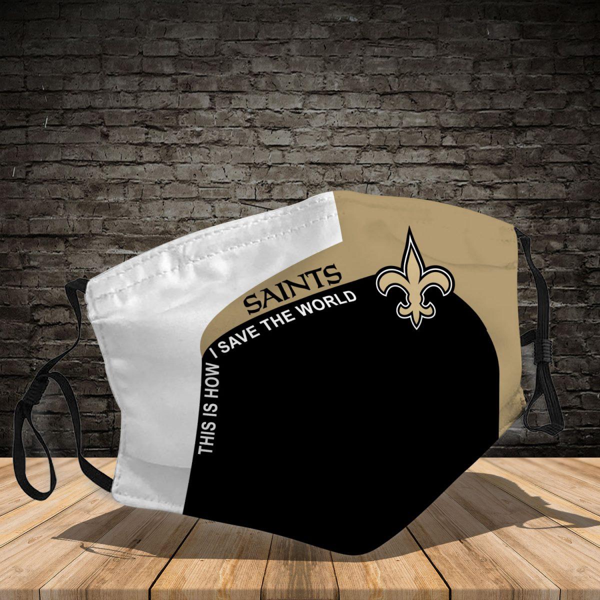 New Orleans Saints 3d face mask