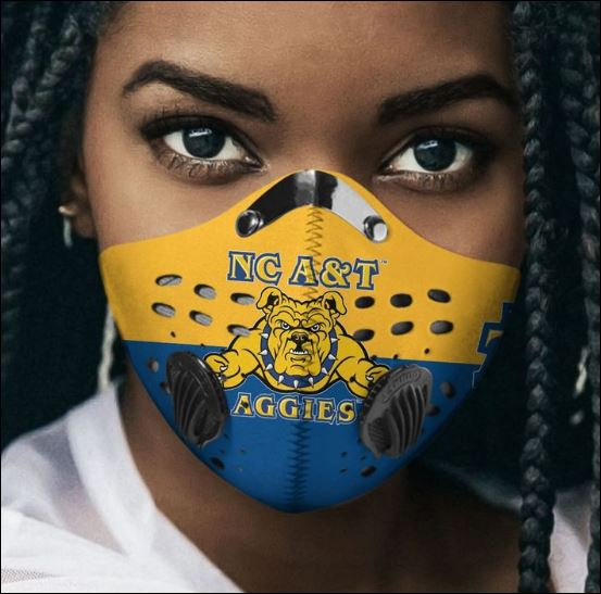 North Carolina A&T Aggies filter activated carbon Pm 2.5 Fm face mask