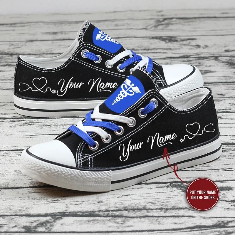Nurse custom name low top shoes