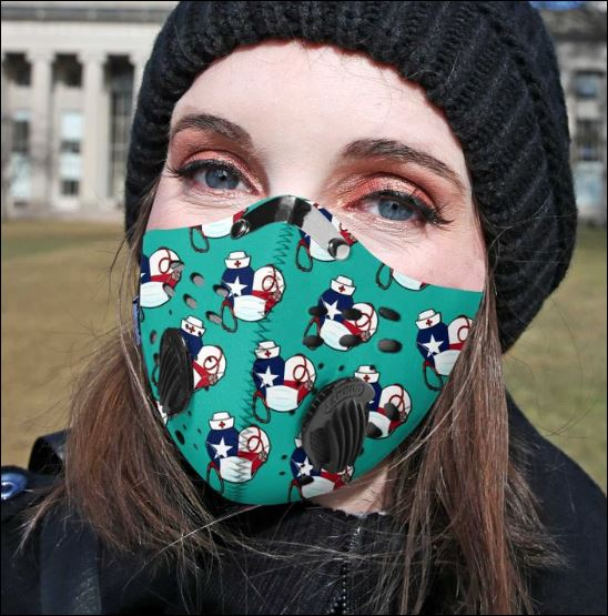 Nurse heart filter activated carbon Pm 2.5 Fm face mask