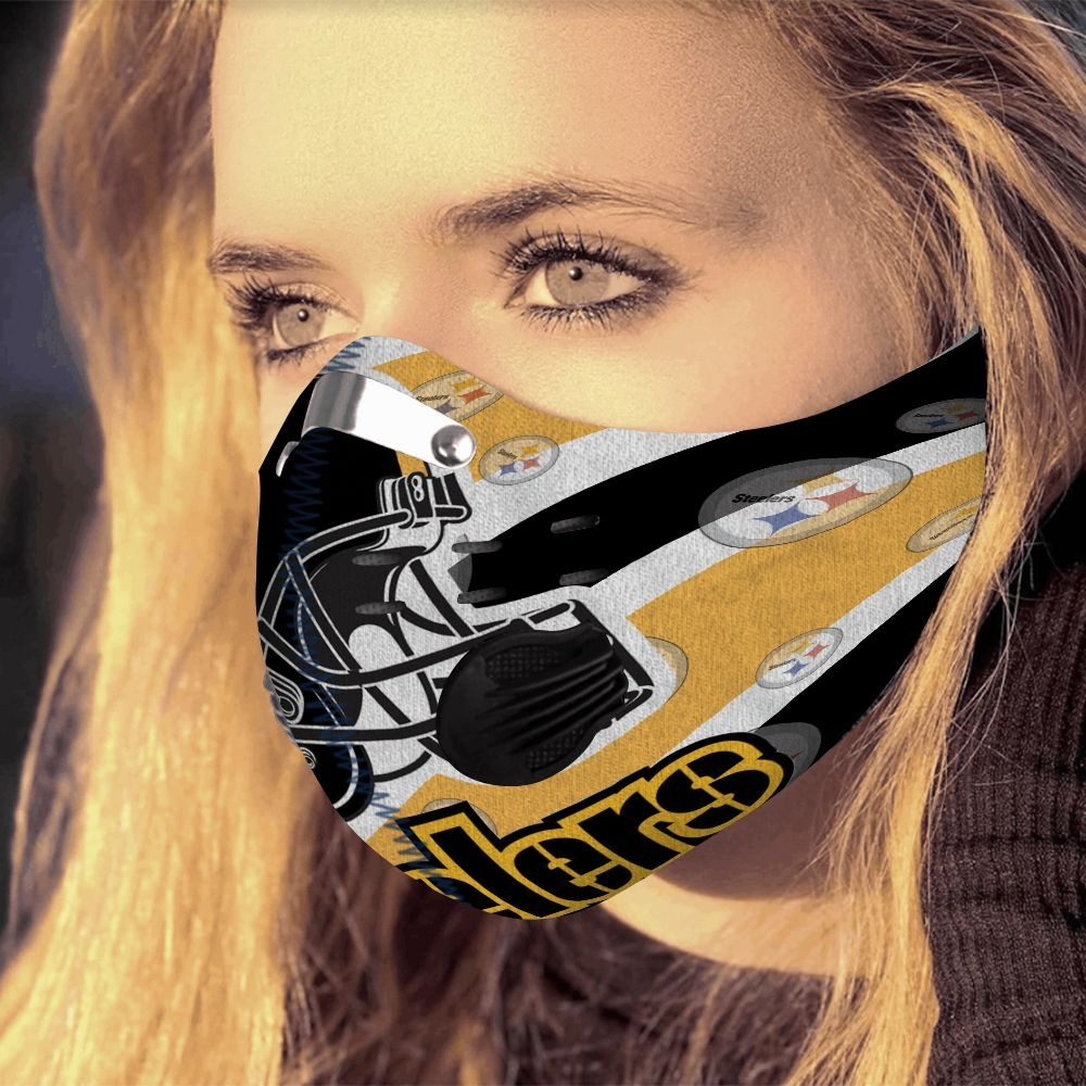 Pittburgh steelers filter face mask