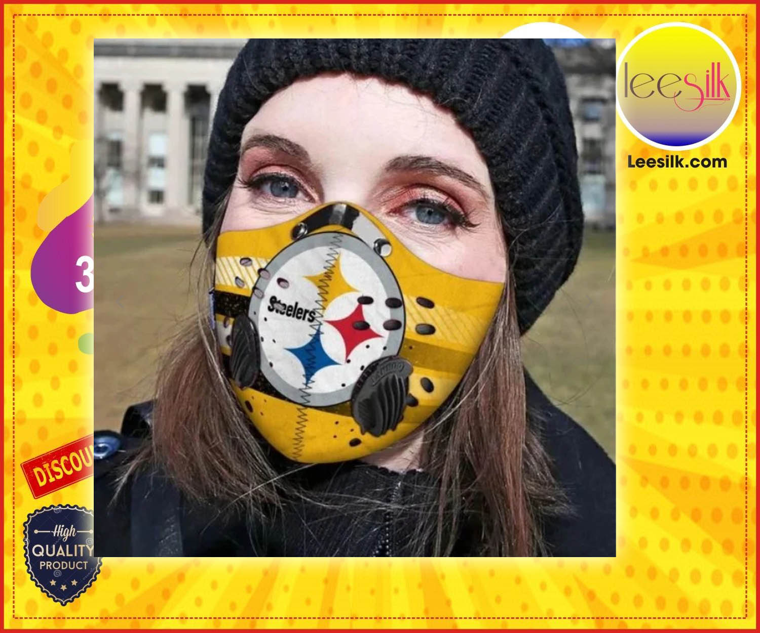 Pittsburgh steelers face mask - BBS