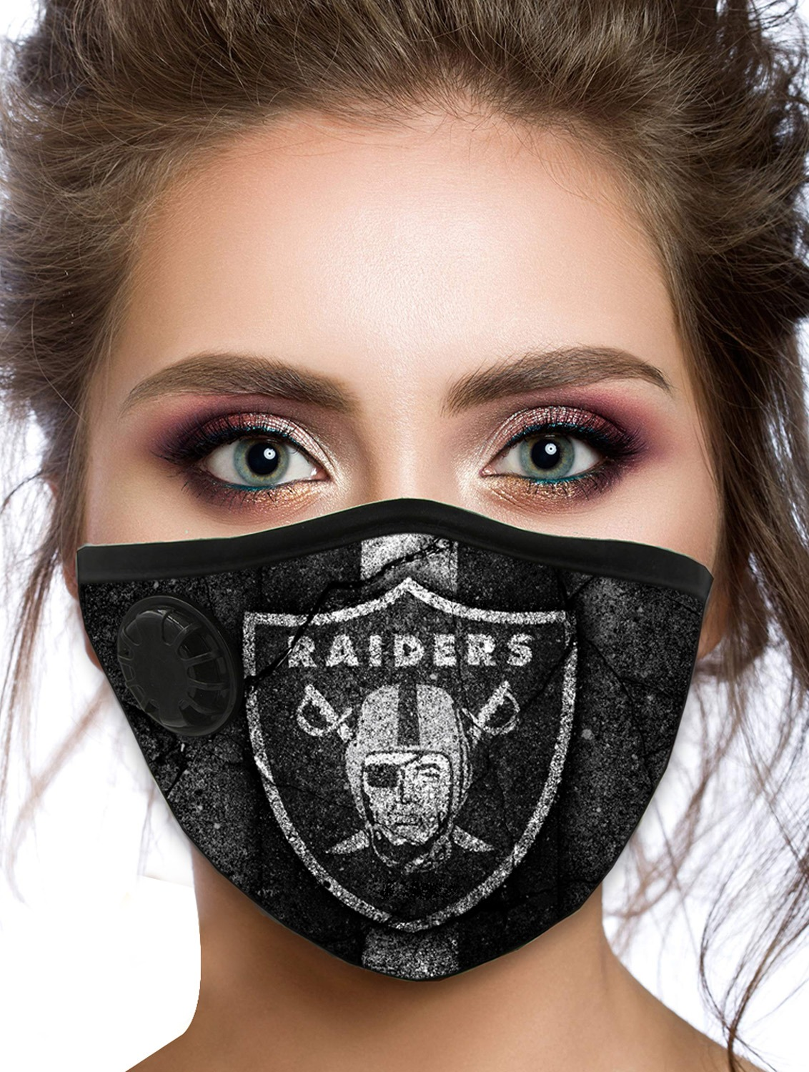 Raiders POD filter face mask