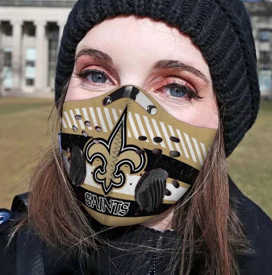 New orleans saints carbon pm 2,5 face mask