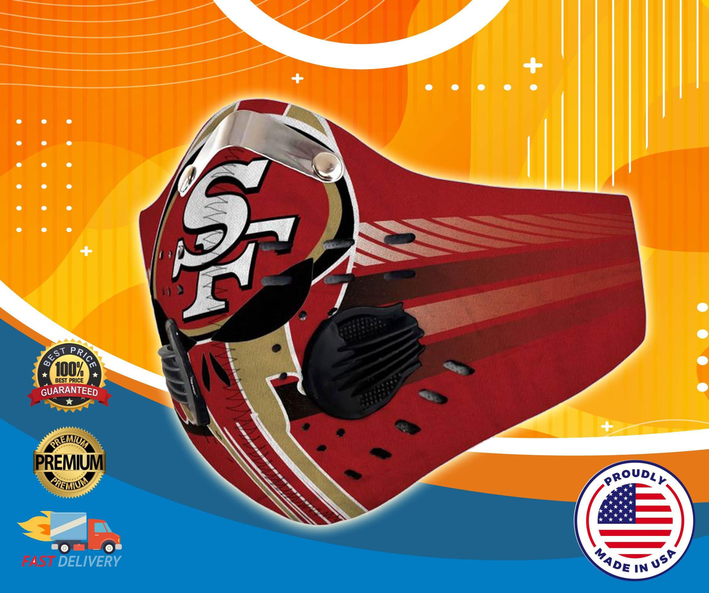 San Francisco 49ers fitler face mask - LIMITED EDITION