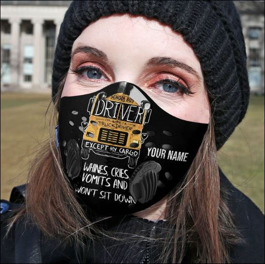 School bus driver whines cries vomits and won't sit down filter activated carbon Pm 2.5 Fm face mask - dnstyles