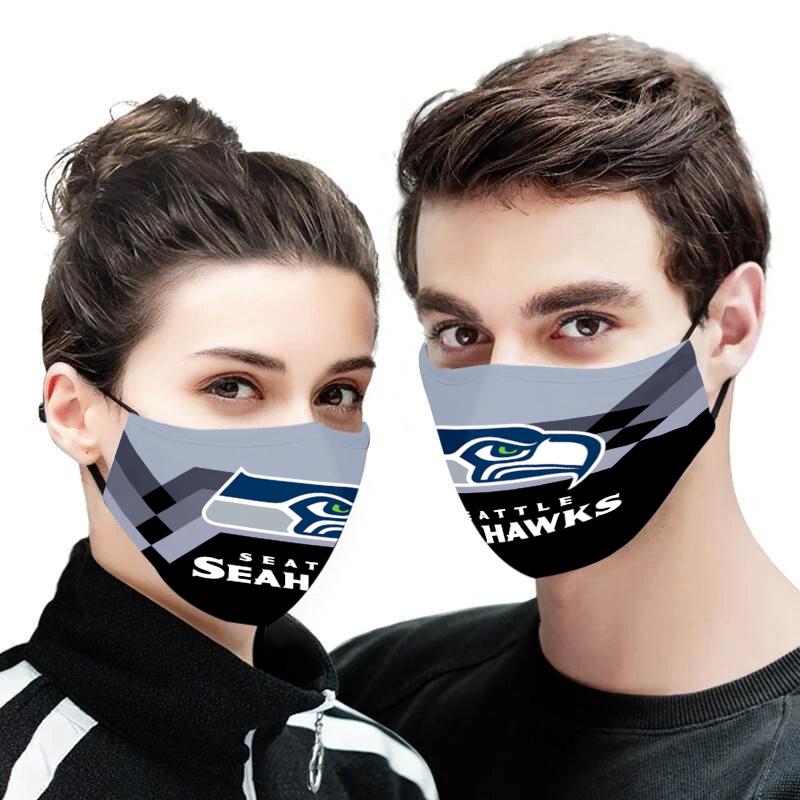 Seattle seahawks face mask
