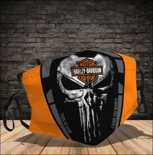 Skull Motor Harley-Davison this how i save the world face mask