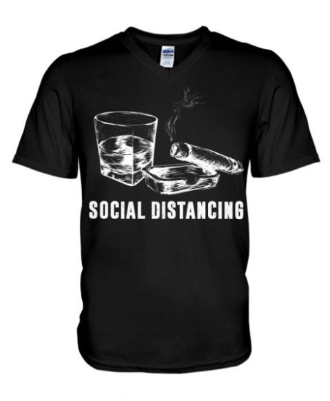 Social Distancing Cigars and Wine classic shirt