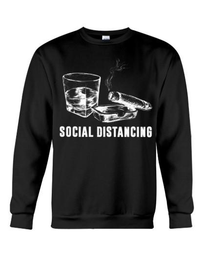 Social Distancing Cigars and Wine hoodie