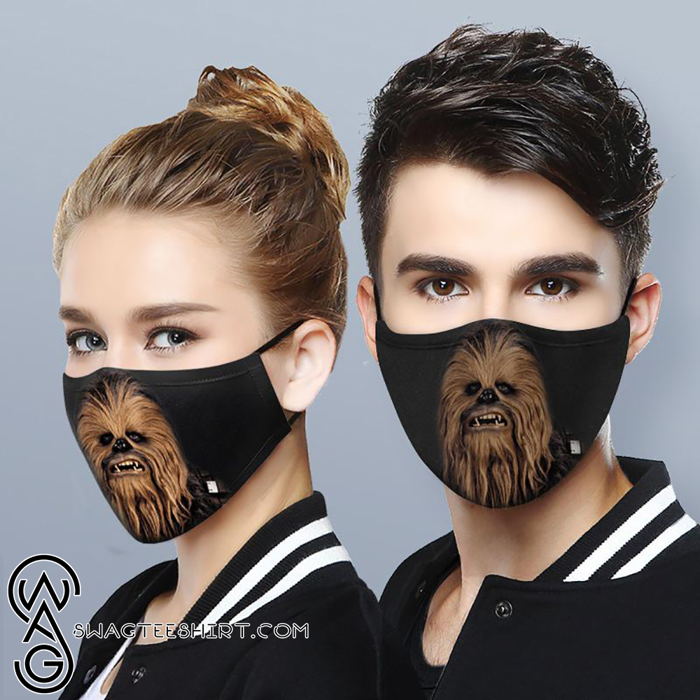 Star Wars Chewbacca All Over Printed Face Mask