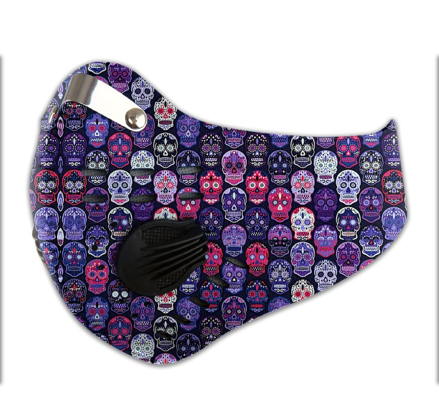Sugar skull filter activated carbon pm 2.5 face mask - maria