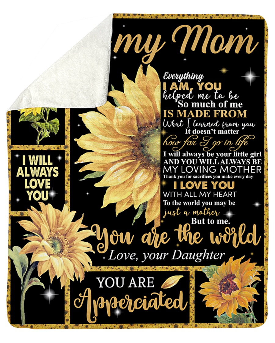 Sunflower to my mom blanket-2