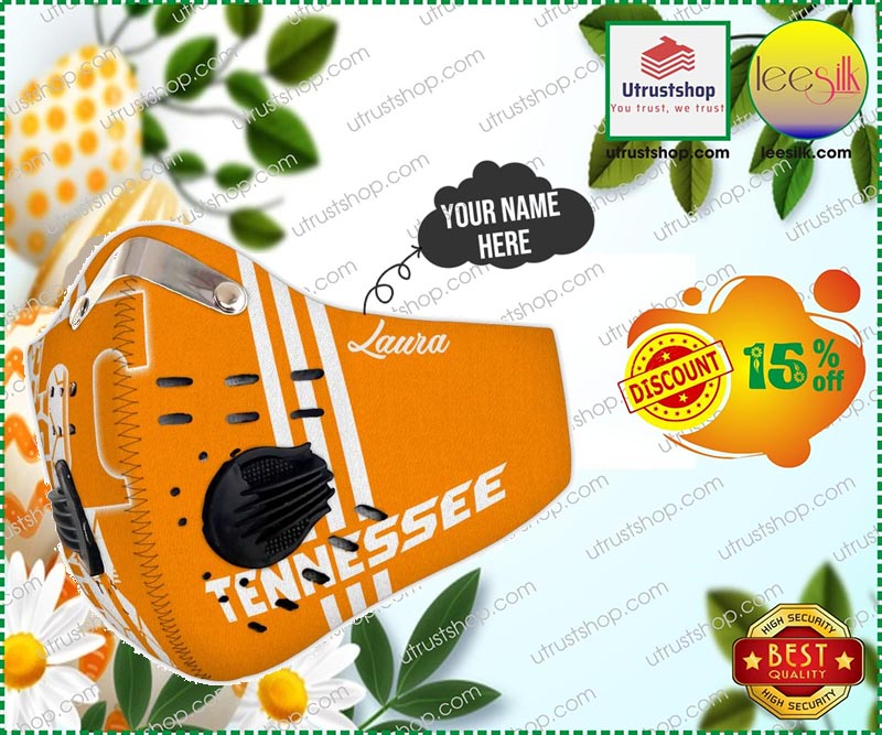 Tennessee Volunteers  custom personalized name face mask - LIMITED EDITION