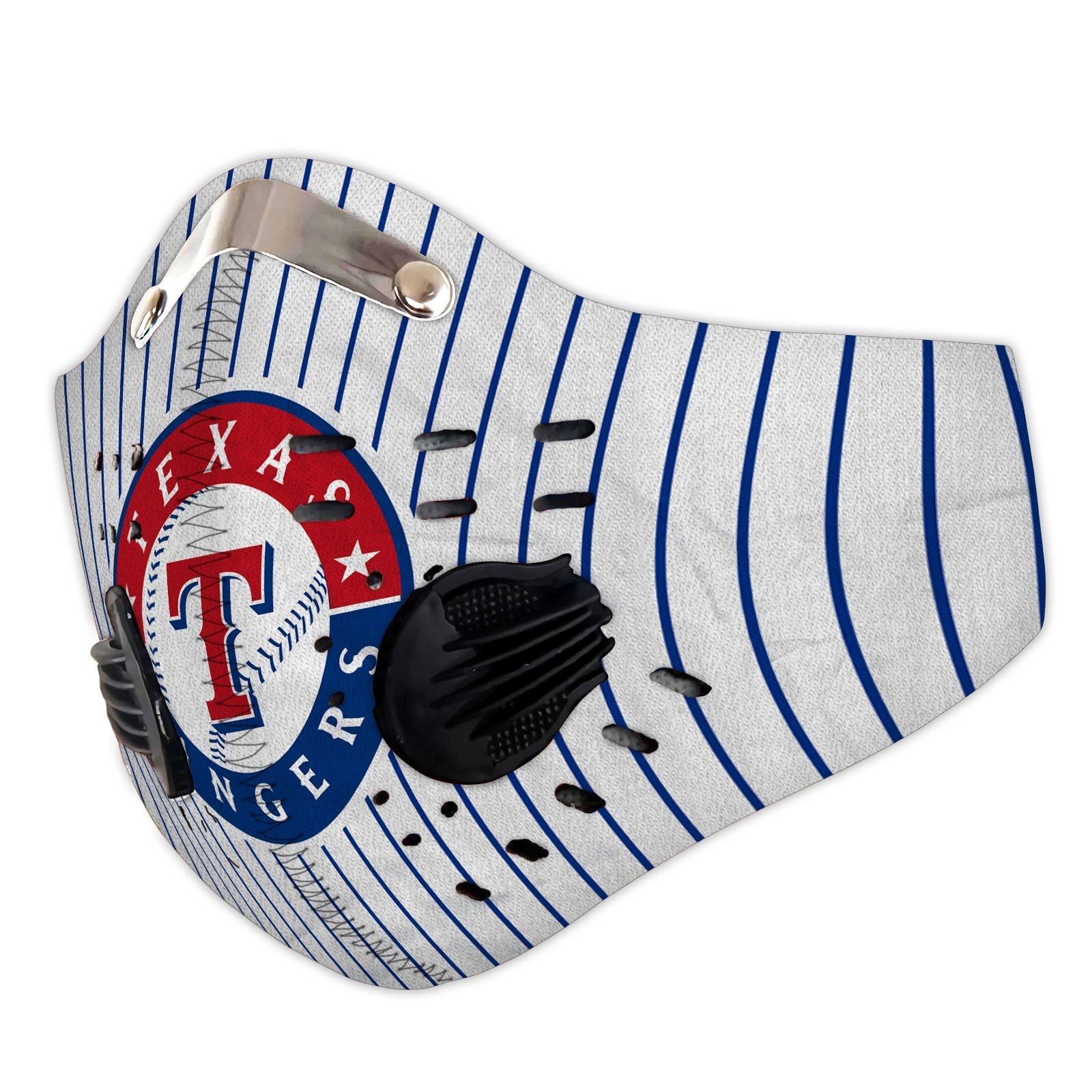 Texas rangers filter face mask