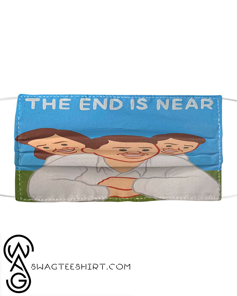 The end is near all over printed face mask - maria
