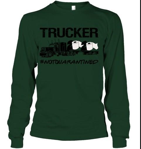 Trucker 2020 not quarantined hoodie