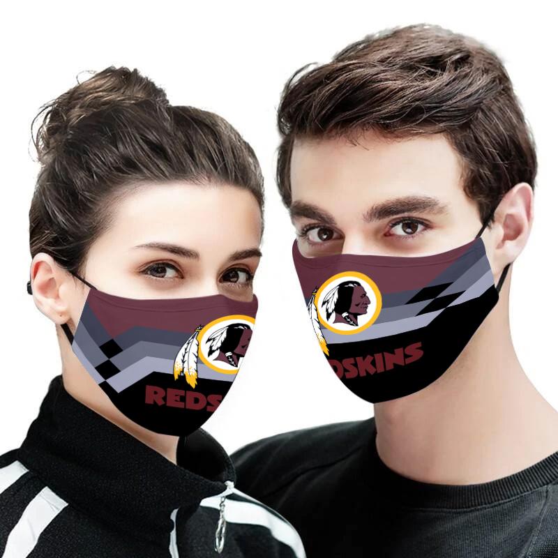 Washington redskins face mask