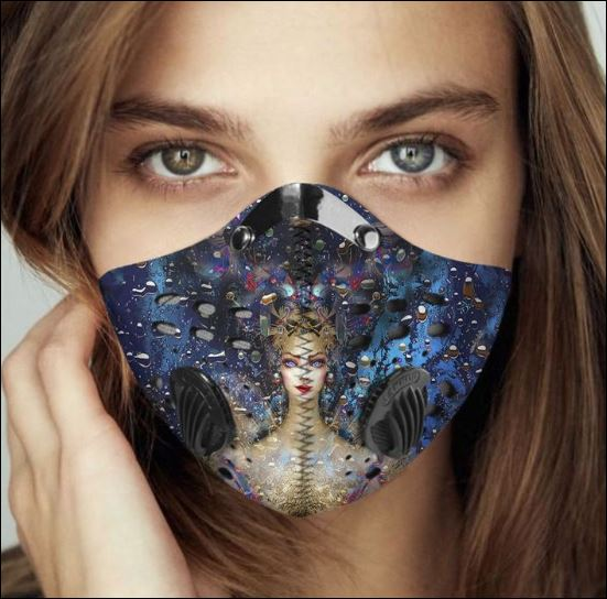 Wicca diva filter activated carbon face mask