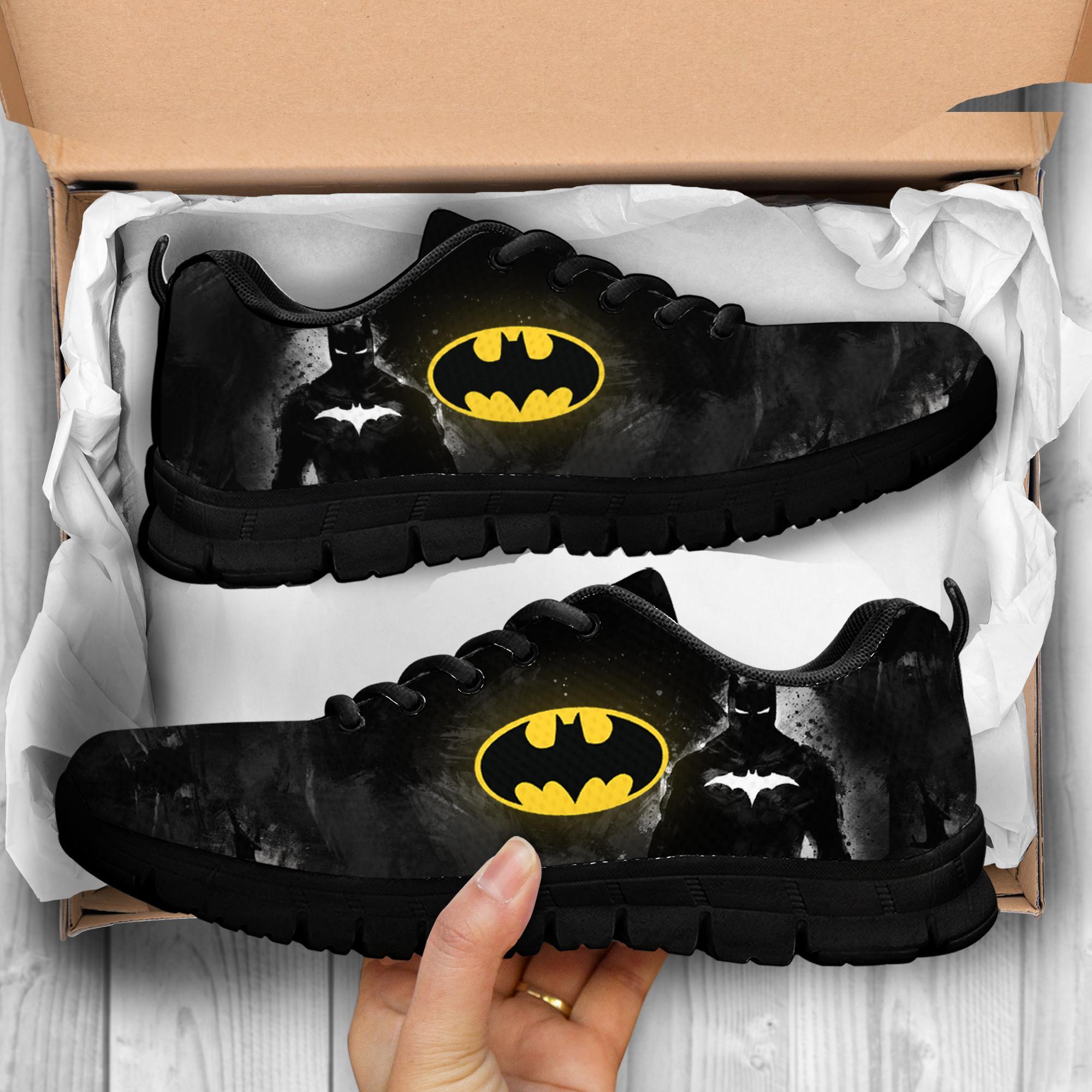 batman full over print low top shoes