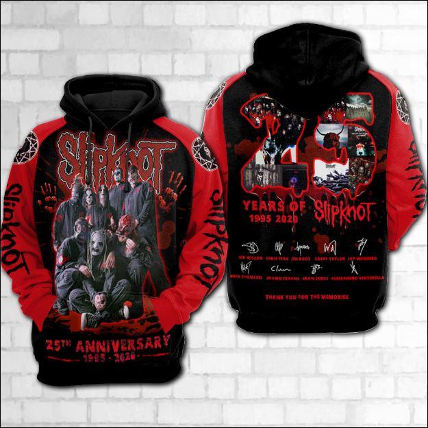 25 years of Slipknot 3D hoodie