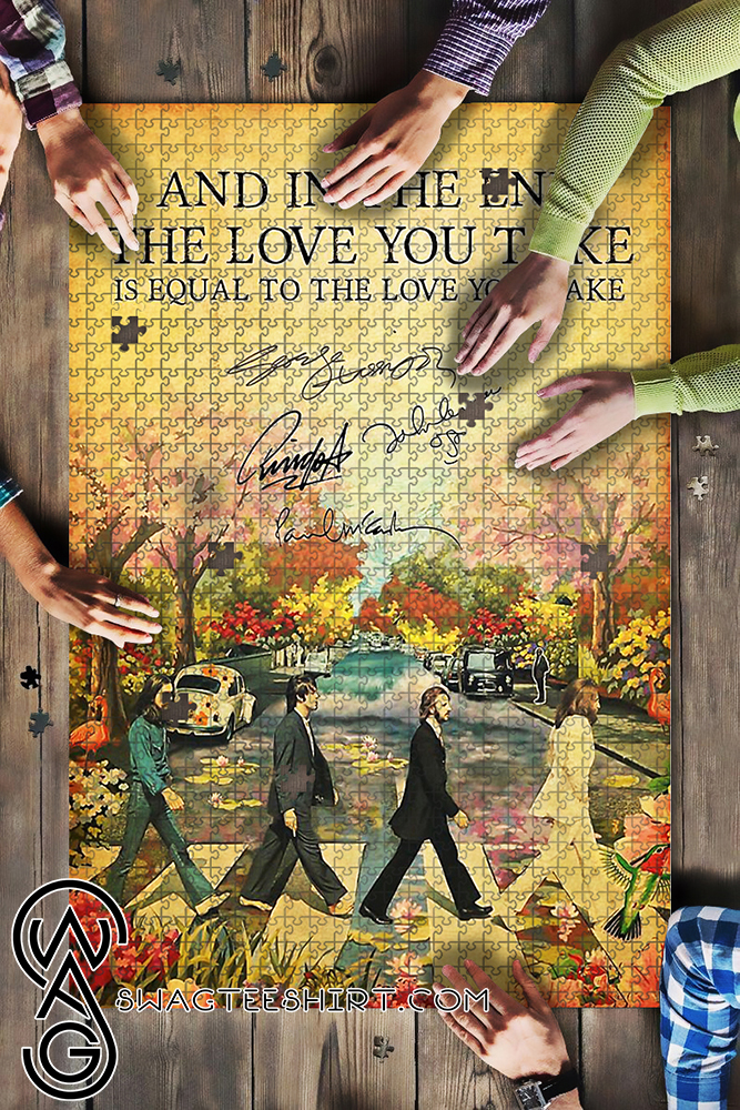 And in the end the love you take is equal the beatles jigsaw puzzle - maria
