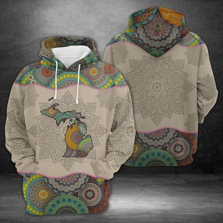 Awesome Michigan Mandala 3D All over print hoodie 1